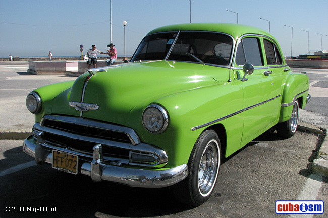 Cuba Autos .org   Chevrolet, 1952, Bel Air 4 Door Sport Sedan,