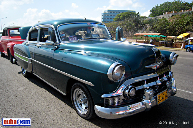 Chevrolet Cars in Cuba. Bel Air Sedan from 1953 - cuba autos .org