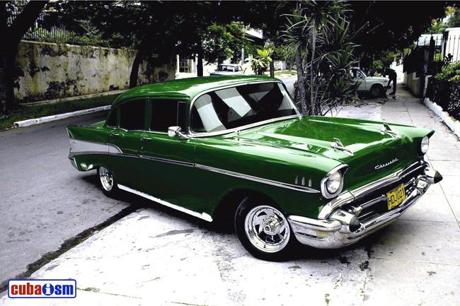 chevrolet cars in cuba bel air sedan 210 from 1957 cuba autos org
