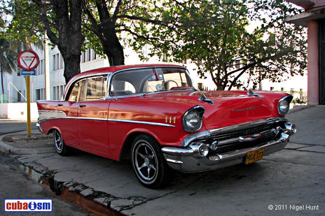 Cuba Autos .org   Chevrolet, 1957, Bel Air Sedan 4 Door Sport Sedan